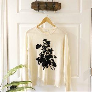 Equipment | Sloane 100% Cashmere Flower Sweater